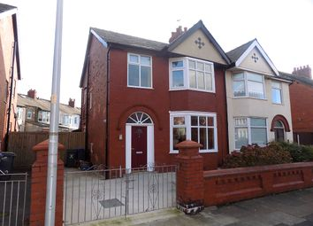 Thumbnail 3 bedroom semi-detached house to rent in Leckhampton Road, Blackpool