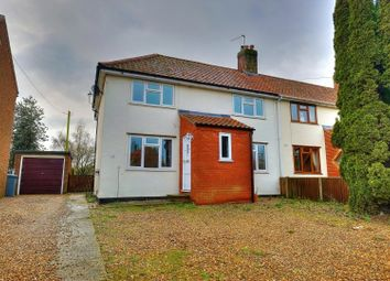 Thumbnail 4 bed semi-detached house for sale in The Street, Ringland, Norwich