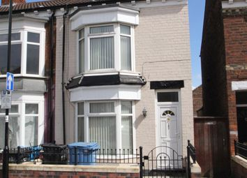 Thumbnail 2 bedroom end terrace house for sale in De La Pole Avenue, Hull