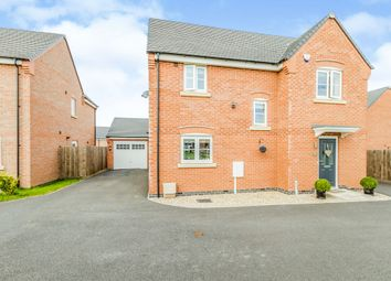 Thumbnail 3 bed detached house for sale in Ellis Close, Broughton Astley, Leicester
