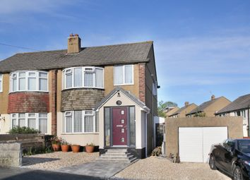 Thumbnail 3 bed semi-detached house for sale in Dolphin Court Road, Plymstock, Plymouth