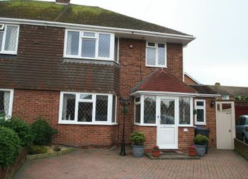 Thumbnail 4 bed semi-detached house for sale in Selkirk Close, Goring-By-Sea, Worthing