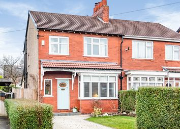 Thumbnail 3 bed semi-detached house for sale in Crossfield Grove, Stockport, Greater Manchester