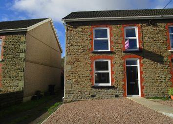 Thumbnail 2 bedroom semi-detached house for sale in Rhiw Road, Rhiwfawr, Swansea.