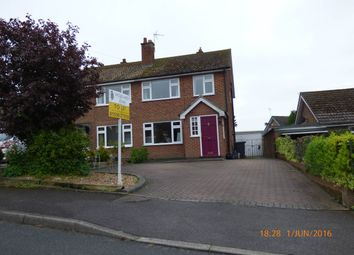 Thumbnail 3 bed semi-detached house to rent in Nethercroft Drive, Packington, Leicestershire