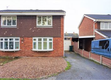 Thumbnail 2 bed semi-detached house for sale in Stoneydale Close, Newhall, Swadlincote