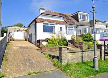 Thumbnail 2 bed semi-detached bungalow for sale in Rodmell Avenue, Saltdean, Brighton, East Sussex