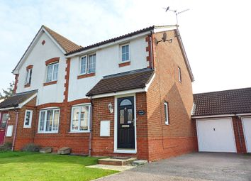 Thumbnail 3 bed semi-detached house for sale in Ferndale, Yaxley, Peterborough