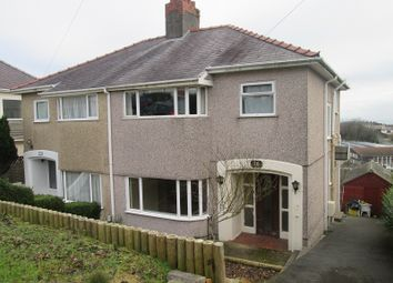 Thumbnail 3 bed semi-detached house for sale in Lon Mafon, Sketty, Swansea, City And County Of Swansea.