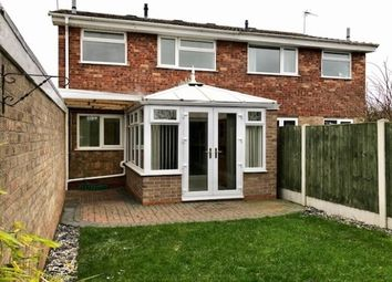 Thumbnail 3 bed semi-detached house to rent in Woodleyes Crescent, Stafford