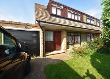 Thumbnail 3 bed semi-detached house to rent in Abbotts Close, Rainham Essex