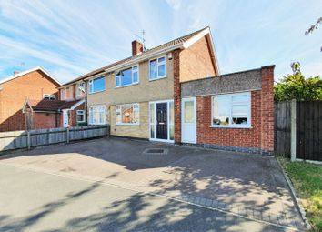 Thumbnail 3 bed semi-detached house for sale in Olympic Close, Glenfield, Leicester