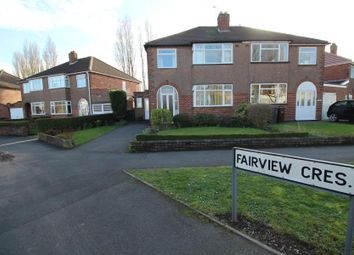 Thumbnail 3 bedroom semi-detached house for sale in Fairview Crescent, Wednesfield, Wolverhampton