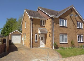 Thumbnail 3 bedroom semi-detached house for sale in Hurn Close, Ruskington, Sleaford