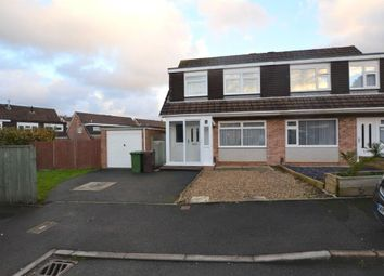 Thumbnail 3 bed semi-detached house for sale in Slatelands Close, Plymouth, Devon