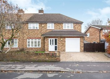 Thumbnail 4 bed semi-detached house for sale in Oaks Road, Staines-Upon-Thames, Surrey
