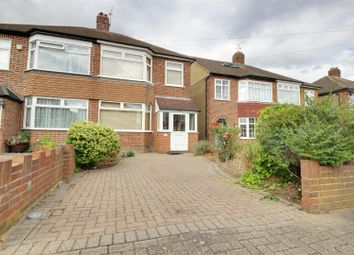 Thumbnail 3 bed semi-detached house for sale in Burnham Close, Enfield