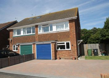 Thumbnail 3 bed semi-detached house for sale in Gwyneth Grove, Bexhill-On-Sea