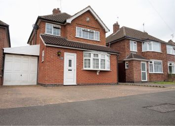 Thumbnail 3 bed detached house for sale in Ruskington Drive, Wigston