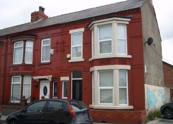 Thumbnail 3 bed end terrace house to rent in Spenser Street, Bootle