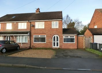 Thumbnail 3 bed semi-detached house for sale in Shenstone Road, Nr Hollywood, Birmingham