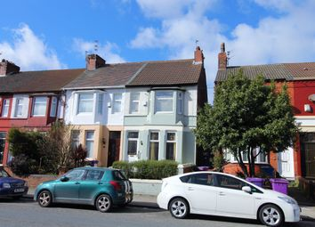 Thumbnail 3 bed end terrace house for sale in Rathbone Road, Wavertree, Liverpool