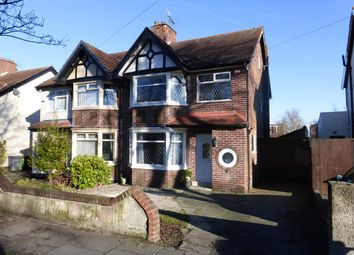 Thumbnail 3 bed semi-detached house for sale in Heyville Road, Bebington, Wirral