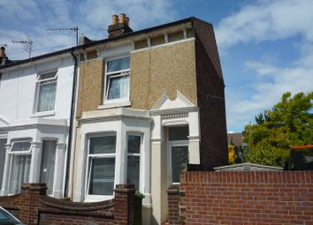 Thumbnail 3 bed end terrace house to rent in Harcourt Road, Copnor, Portsmouth