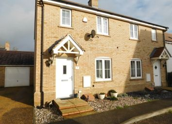 Thumbnail 2 bed semi-detached house for sale in Gentian Gardens, Stotfold, Herts