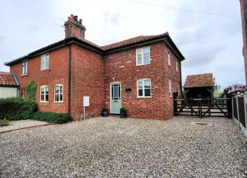 Thumbnail 3 bed semi-detached house to rent in Norwich Road, Yaxham, Dereham