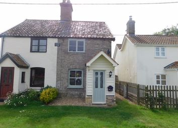 Thumbnail 2 bed semi-detached house for sale in The Green, Stowupland, Stowmarket