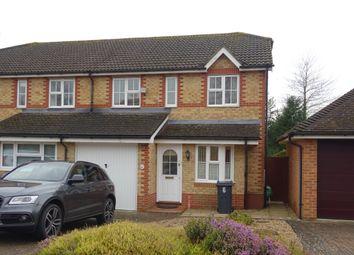 Thumbnail 3 bed semi-detached house to rent in Lancaster Close, Hamstreet, Ashford, Kent