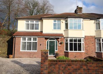 Thumbnail 4 bedroom semi-detached house for sale in Oulder Hill Drive, Bamford, Rochdale