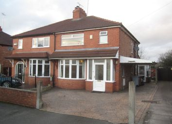 Thumbnail 3 bed semi-detached house for sale in Jubilee Avenue, Crewe