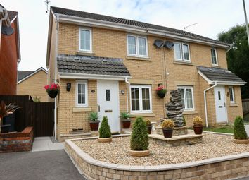 Thumbnail 3 bed semi-detached house for sale in Anthony Hill Court, Pentrebach, Merthyr Tydfil