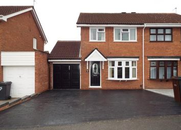Thumbnail 3 bed semi-detached house for sale in Gatcombe Close, Moseley, Wolverhampton, West Midlands