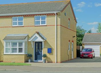Thumbnail 3 bed semi-detached house for sale in Dapple Gardens, Whittlesey, Peterborough