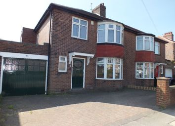 Thumbnail 3 bed semi-detached house to rent in Fenham Hall Drive, Fenham, Newcastle Upon Tyne