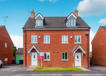 Thumbnail 3 bed town house for sale in Russell Close, Uttoxeter