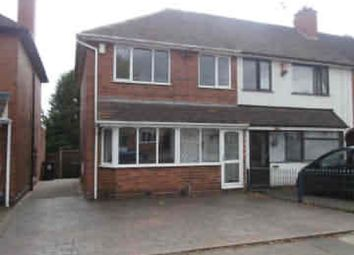 Thumbnail 3 bedroom end terrace house to rent in Hathersage Road, Great Barr, Birmimgham
