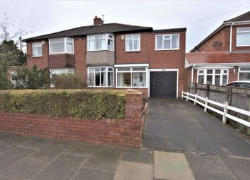 Thumbnail 4 bed semi-detached house for sale in Stokesley Grove, High Heaton, Newcastle Upon Tyne