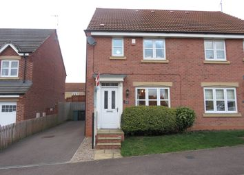 Thumbnail 3 bed semi-detached house for sale in Devana Way, Great Glen, Leicester