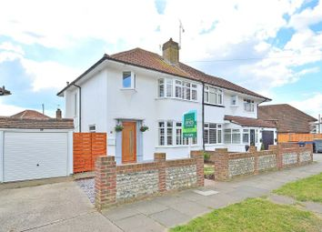 Thumbnail 3 bed semi-detached house for sale in Roberts Road, Lancing, West Sussex