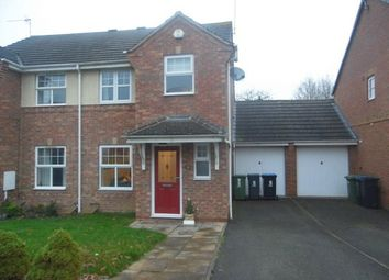 Thumbnail 3 bed property to rent in Elliot Close, Kibworth, Leicester