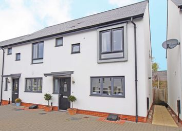 Thumbnail 3 bed semi-detached house for sale in Milbury Farm Meadow, Exminster, Exeter