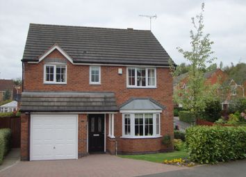 Thumbnail 4 bed detached house for sale in Celandine Close, Burton-On-Trent