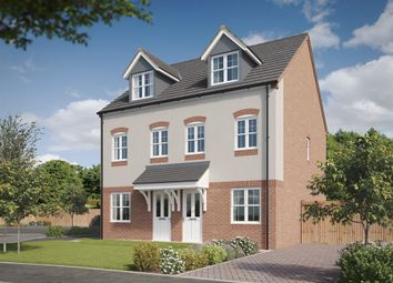 "Thumbnail 3 bedroom town house for sale in ""The Silverton"" at Lyne Hill Lane, Penkridge, Stafford"