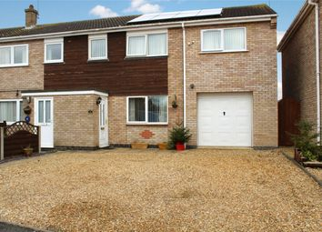 Thumbnail 4 bed semi-detached house for sale in Fernie Close, Newborough, Peterborough