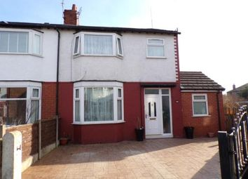 Thumbnail 3 bed semi-detached house for sale in Waverley Ave, Stretford, Manchester