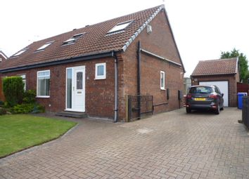 Thumbnail 2 bed semi-detached bungalow for sale in Woodkirk Close, Seghill, Northumberland